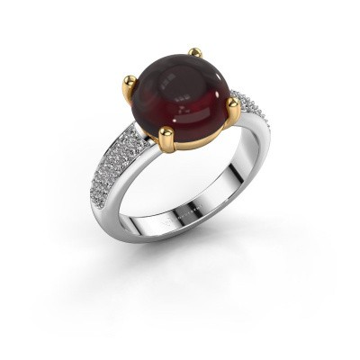 Foto van Ring Sophie 585 witgoud granaat 10 mm