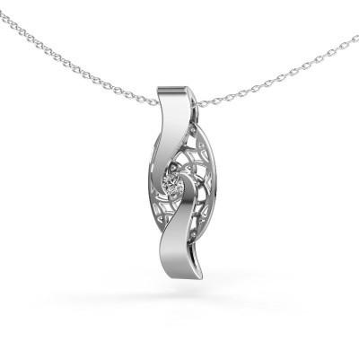 Hanger Darleen 925 zilver zirkonia 3 mm