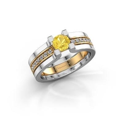Foto van Verlovingsring Myrthe 585 goud gele saffier 5 mm