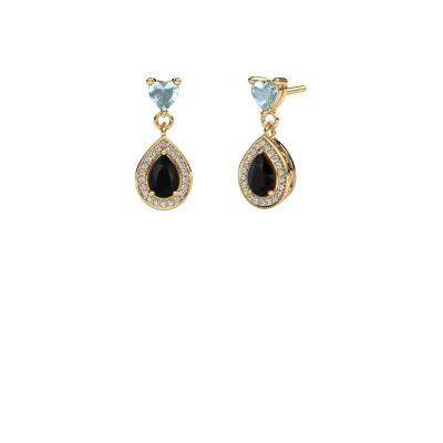 Picture of Drop earrings Susannah 375 gold black diamond 1.69 crt
