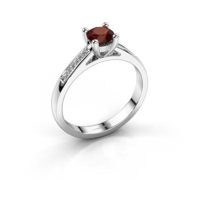 Engagement ring Nynke 950 platinum garnet 4.7 mm