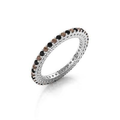 Aanschuifring Rufina 1 925 zilver bruine diamant 0.660 crt