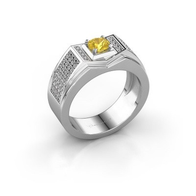 Men's ring Marcel 925 silver yellow sapphire 5 mm
