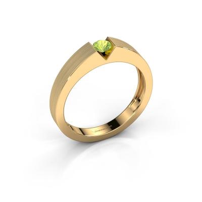 Verlovingsring Lizzy 1 585 goud peridoot 3.7 mm