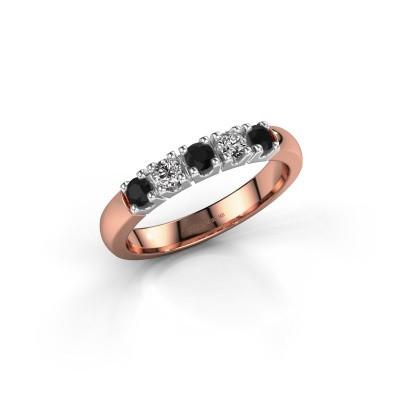 Foto van Ring Rianne 5 585 rosé goud zwarte diamant 0.448 crt