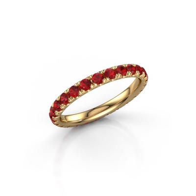 Foto van Ring Jackie 2.3 585 goud robijn 2.3 mm