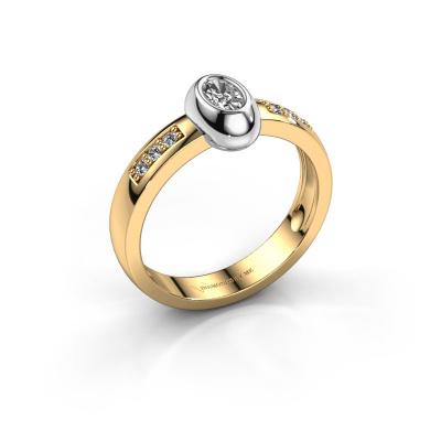 Ring Charlotte Oval 585 gold diamond 0.32 crt