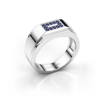 Foto van Heren ring Roan 925 zilver saffier 1.5 mm