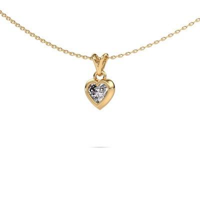 Foto van Hanger Charlotte Heart 585 goud diamant 0.50 crt