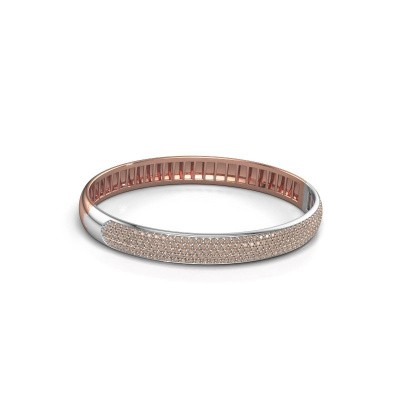 Picture of Bangle Emely 8mm 585 rose gold brown diamond 3.036 crt