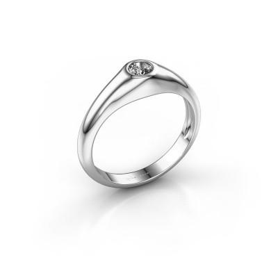 Foto van Pinkring Thorben 950 platina lab-grown diamant 0.25 crt