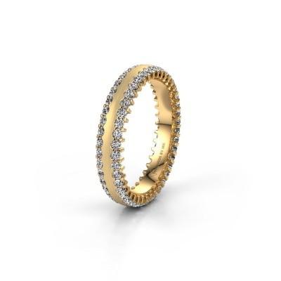Trouwring WH2139L24B 375 goud zirkonia ±4x2 mm