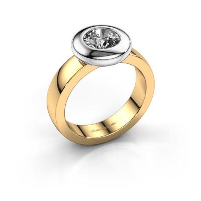 Ring Iris 585 gold diamond 1.00 crt
