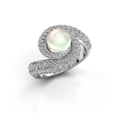 Bild von Ring Klasina 585 Weißgold Weiße Perl 7 mm