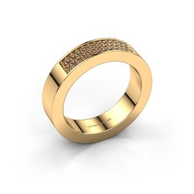 Ring Lindsey 1 375 gold brown diamond 0.235 crt