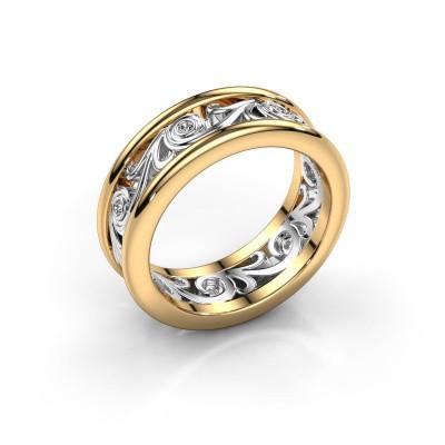 Foto van Trouwring Bibi 585 goud diamant ±7x2 mm