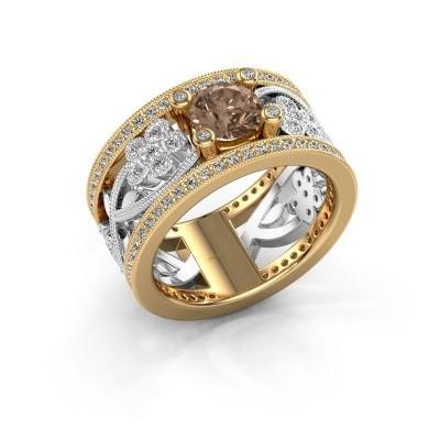 Foto van Ring Severine 585 goud bruine diamant 1.405 crt