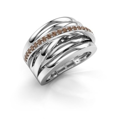 Foto van Ring Clair 1 925 zilver bruine diamant 0.315 crt