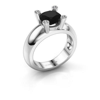 Ring Tamara RND 585 Weißgold Schwarz Diamant 2.40 crt