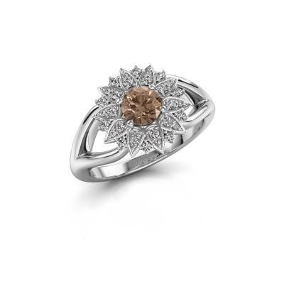 Verlovingsring Chasidy 1 925 zilver bruine diamant 0.50 crt