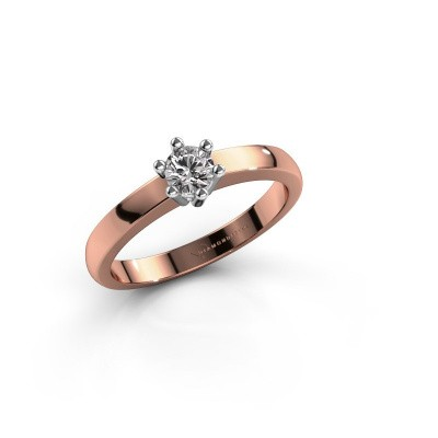 Foto van Verlovingsring Luna 1 585 rosé goud diamant 0.25 crt