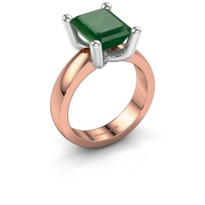 Ring Clelia EME 585 rose gold emerald 10x8 mm