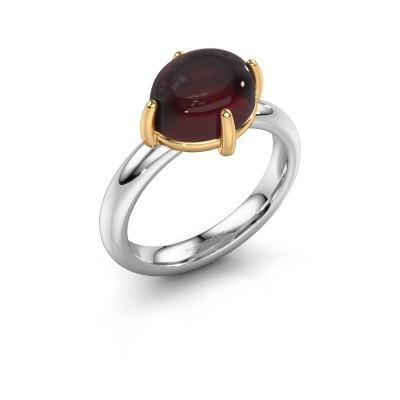 Ring Melodee 585 white gold garnet 10x8 mm