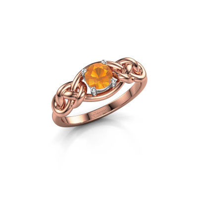 Foto van Ring Zoe 585 rosé goud citrien 5 mm