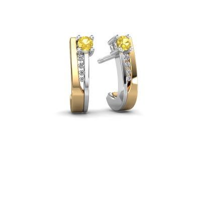 Oorbellen Jewell 585 goud gele saffier 2.7 mm