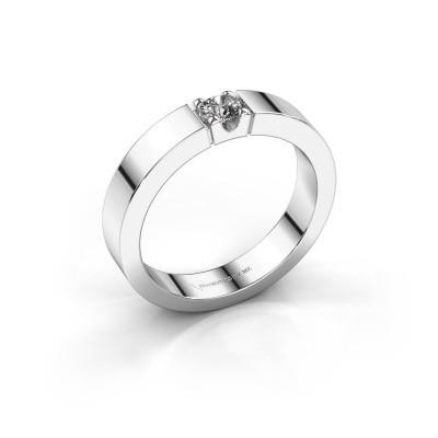 Foto van Belofte ring Dana 1 950 platina zirkonia 3.7 mm