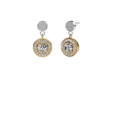 Oorbellen Ebonie 585 goud lab-grown diamant 1.479 crt