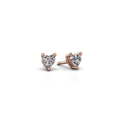 Foto van Oorstekers Garnet 375 rosé goud diamant 0.50 crt
