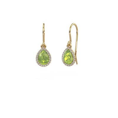 Picture of Drop earrings Seline per 585 gold peridot 7x5 mm