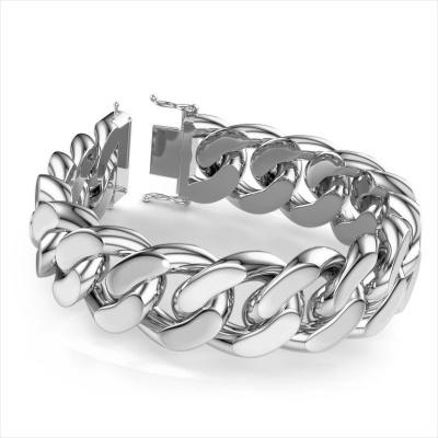 Cuban link armband ±23 mm 950 platina