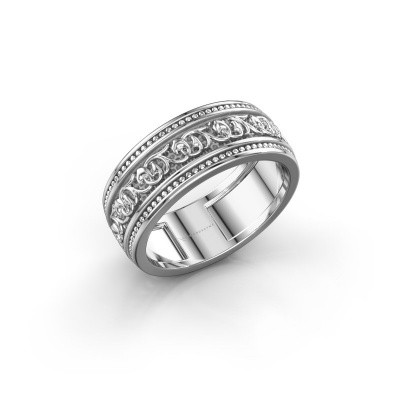 Men's ring Eddo 375 white gold