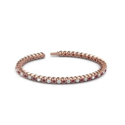 Foto van Tennisarmband Patrica 375 rosé goud rhodoliet 2.4 mm