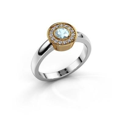 Picture of Ring Adriana 1 585 white gold aquamarine 4 mm