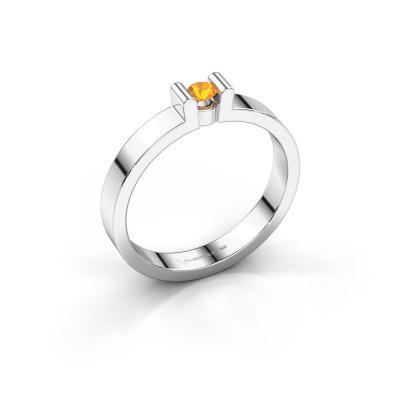 Verlovingsring Sofie 1 925 zilver citrien 3 mm