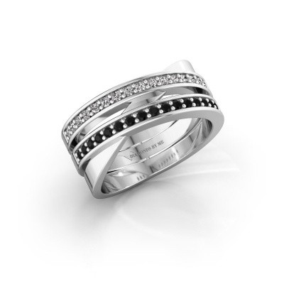 Ring Margje 950 Platin Schwarz Diamant 0.352 crt