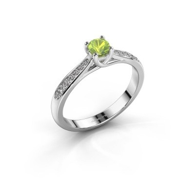 Picture of Engagement ring Mia 2 950 platinum peridot 4.2 mm