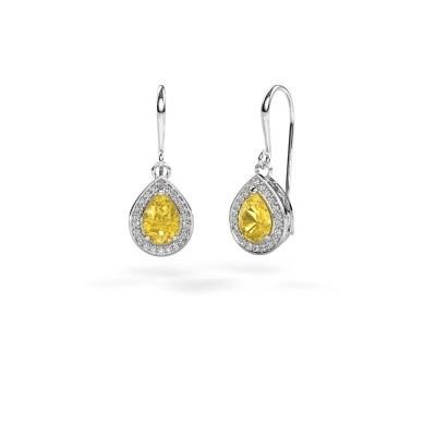 Ohrhänger Beverlee 1 585 Weißgold Gelb Saphir 7x5 mm