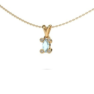 Picture of Necklace Cornelia Marquis 585 gold aquamarine 7x3 mm