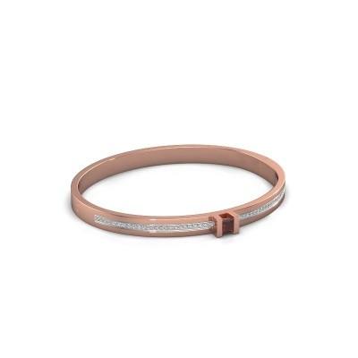 Foto van Armband Desire 585 rosé goud granaat 4 mm