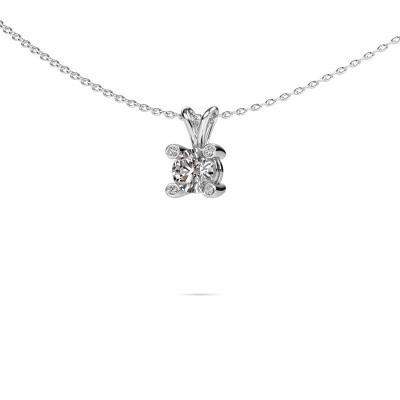 Foto van Hanger Fleur 375 witgoud diamant 0.40 crt