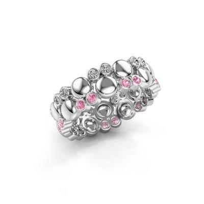 Foto van Ring Joanne 925 zilver roze saffier 1.4 mm
