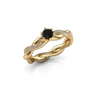 Foto van Verlovingsring Page 585 goud zwarte diamant 0.30 crt