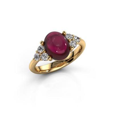 Ring Clarice 585 goud granaat 10x8 mm
