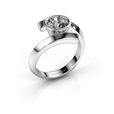 Bague Mara 950 platine diamant 1.00 crt