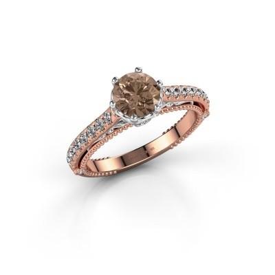 Foto van Verlovingsring Venita 585 rosé goud bruine diamant 1.345 crt