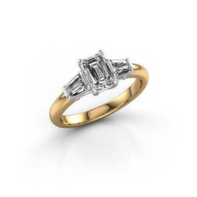 Foto van Verlovingsring Kina EME 585 goud lab-grown diamant 1.22 crt